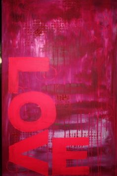 "Saatchi Art Artist Adele Hetherington; Painting, ""PINK LOVE"" #art"