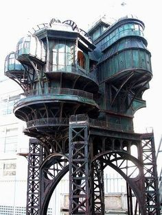 """#Steampunk treehouse, built for the movie """"City of Lost Children"""" 1995."""
