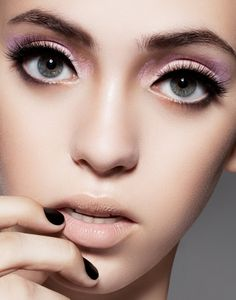 pastel eye make up and lips #eyes #makeup #eyeshadow #lipstick