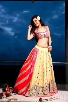 mirror_work_yellow_lehenga_papadontpreach.jpg (681×1024)