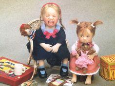 OOAK dollhouse doll by Catherine Muniere