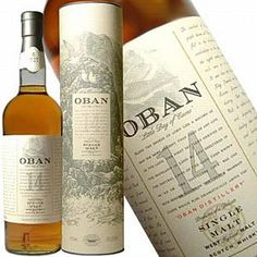 Oban 14 - A hint of peat smoke, combined with a salty maritime flavour. Citrus orangey notes are also present in both the nose and on the palate, and the sweeter honeyed notes give our malt a smooth silky finish.