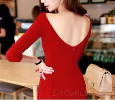 Ericdress Superior Red Backless Casual Dress Casual Dresses