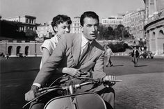Audrey Hepburn and Gregory Peck in Roman Holiday, 1953, Paramount