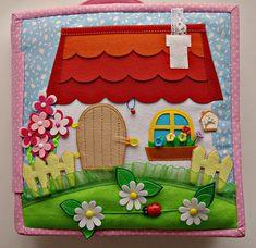 Make a paper doll or fairy house. Diy Quiet Books, Baby Quiet Book, Felt Quiet Books, Quiet Book Templates, Quiet Book Patterns, Silent Book, Sensory Book, Fidget Quilt, Book Quilt