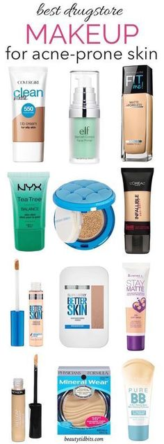 From foundations and BB creams to concealers, this is the ultimate guide to the best drugstore makeup that will be gentle to your oily acne-prone skin and wallet! More #makeupproducts