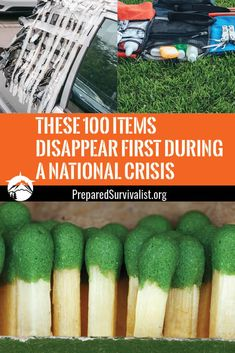 When a disaster is about to strike it is a good idea to be ready. These 100 items will disappear first during a crisis. check them out and stock up on them before it is too late! Survival Essentials, Survival Supplies, Emergency Supplies, Survival Prepping, Survival Skills, Survival Hacks, Bushcraft Kit, Bushcraft Skills, Emergency Preparation