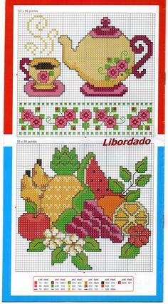 Bulinho Cross Stitch Embroidery, Cross Stitch Patterns, Bordados E Cia, Cross Stitch Kitchen, Carousel Horses, Disney Star Wars, Bargello, Tea Party, Embroidery Designs