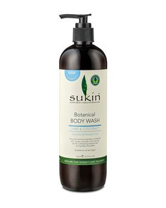 Sukin Botanical Body Wash - A natural body wash and S.-free cleanser featuring softening jojoba, avocado, and rose hip oils to hydrate and purify your skin. Natural Body Wash, Natural Skin Care, Rosehip Oil, Jojoba Oil, Body Lotions, Health And Beauty, Hair Care, Lime, Coconut