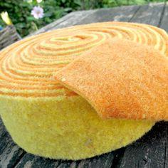 100% Wool Felt Rolls - 2-tone Felt - Orange & Yellow - 1 metre - £4.00 Buy from www.bloomingfelt.co.uk