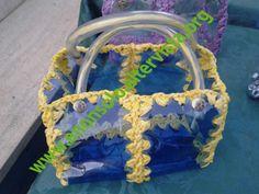 Plastica blu - filo giallo