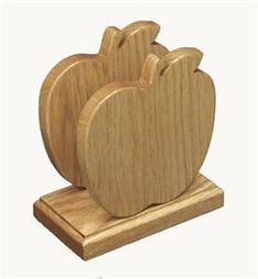 Amish Oak Wood Apple Shape Napkin Holder Solid Wood Crafts and Toys Collection  Small Woodworking Projects, Small Wood Projects, Woodworking Books, Fine Woodworking, Youtube Woodworking, Rockler Woodworking, Wooden Crafts, Wooden Toys, Wood Napkin Holder