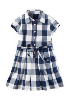 Carters Plaid Plaid Dress Toddler Girls