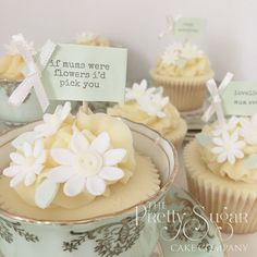 Daisy cupcakes for Mothers Day