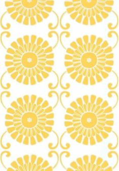 Sun Garden #wallpaper and coordinating embroidered #fabric in Yellow from the Resort Collection by #Thibaut