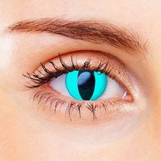 Aqua Cat Eye Contact Lenses