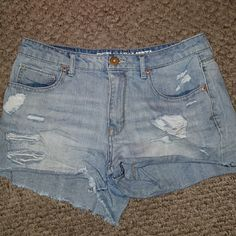 Bethany zmoda High Rise Distressed Shorts Size 10 ~ 100% cotton worn about 3 times in great condition. Perfect for spring and summer! Bethany Moda/Aeropostale  Shorts Jean Shorts