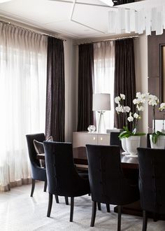 Sheers and panels are timeless! Drapery by Q. Design. Design by Elizabeth Metcalfe Interiors and Design.