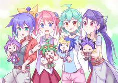 Serena, Yuri,Yuzu, Yuya, Rin, Yugo, Ruri, Yuto