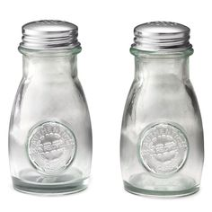 100% recycled salt and pepper shakers