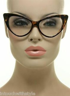 b3b691bebb Women s Eyeglasses Nikita Cat Eye Brown Tortoise Frame Clear Lens Retro  Vintage Four Eyes
