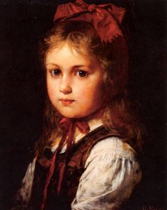 Little Girl In Her Sunday Dress. Rudolf Epp (1834 – 1910, German)