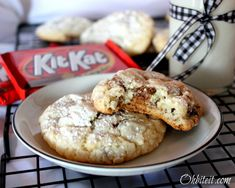 Kit Kt Krackle Kookies...soft, chewy, and the Kit Kats add an incredible crispy crunch