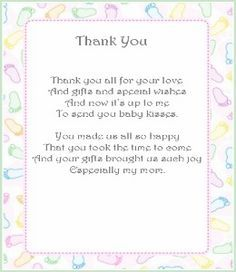10 Best Thank You Notes For Gifts From Baby Shower Images Baby