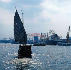 Ein Hafen in Shangha