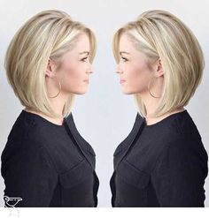 77 Trendy Bob Hairstyles For All Occasions - Page 12 of 77 - CoCohots - 77 Tren. 77 Trendy Bob Hairstyles For All Occas. Bob Hairstyles For Fine Hair, Chic Hairstyles, Hairstyles For Round Faces, Hairstyle Ideas, Medium Bob Hairstyles, Pixie Haircuts, Natural Hairstyles, Short Length Hairstyles, Womens Bob Hairstyles