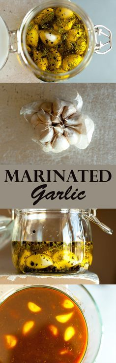 Marinated Garlic… two ways! Herb & Spice Marinated Garlic and Japanese-style Soy-Miso Marinated Garlic...makes a great homemade gift for the holidays!