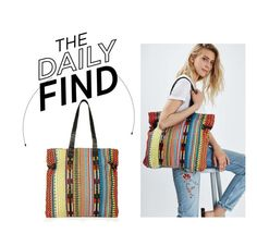 """The Daily Find: Topshop Woven Tote"" by polyvore-editorial ❤ liked on Polyvore featuring Topshop and DailyFind"