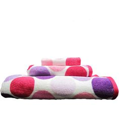 Your Zone 3-Piece 100% Cotton Towel Set, Pink