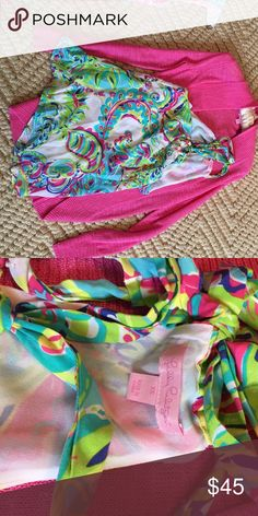 Lilly Pulitzer halter top never worn but no tags Printed Lilly halter top Lilly Pulitzer Tops