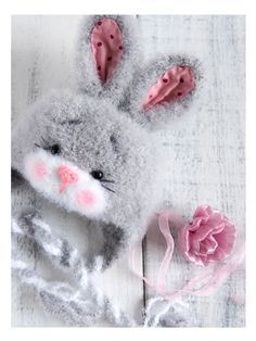 """Cap """"Bunny"""" for a photo shoot of a newborn – shop online on Livemaster with shipping - G86UXCOM   Volgograd"""