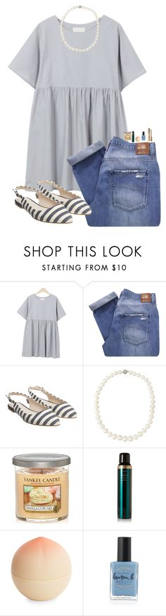 """""""Good morning polyyesterday in the d"""" by kolbee24 ❤ liked on Polyvore featuring beauty, Nobody Denim, Monsoon, Belpearl, Yankee Candle, Oribe, Tony Moly, Lauren B. Beauty and tarte"""