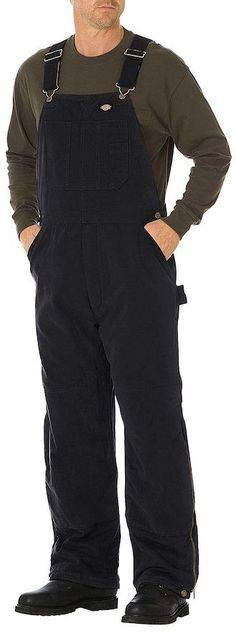 Men's Dickies Sanded Duck Insulated Bib Overall Insulated Bib Overalls, Carhartt Overalls, Big & Tall, Cotton, Pants, Men, Clothes, Shopping, Style