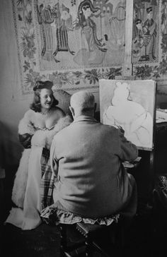 Matisse in his Studio, Vence, 1944 by French photographer Henri Cartier-Bresson Gelatin silver print, x cm. Collection: National Gallery of Canada, Ottawa. Henri Cartier Bresson, Henri Matisse, Magnum Photos, Famous Artists, Great Artists, Artist Art, Artist At Work, Artists And Models, Candid Photography