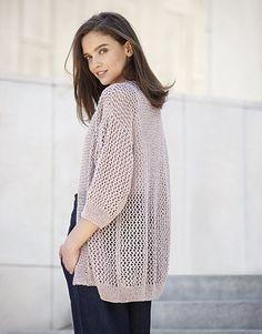 pattern knit crochet woman jacket spring summer katia 6025 16 p Crochet Woman, Knit Crochet, Jacket Pattern, Knit Patterns, Lana, Sweater Cardigan, Jackets For Women, Bell Sleeve Top, Spring Summer