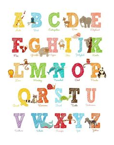 The 165 Best Kids Abc Images On Pinterest Kids Room Letters And