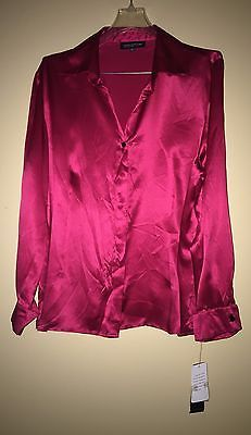Jones-New-York-Collection-Cassis-Red-Silk-V-Neck-Blouse-Plus-Size-18W