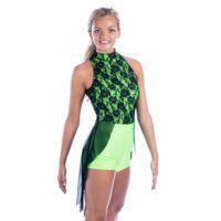 Mesh Skirted Biketard  Lyrical Dance Costumes D20000