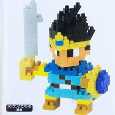 Dragon Quest Warrior 3 Hero Kawada Nanoblock Nano Block JAPAN FIGURE #Kawada