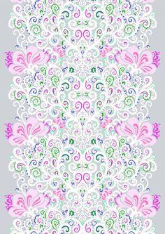 <p><span>Naimakauppa-valmisverhossa komeilee suunnittelija Tanja Orsjoen luovuudesta syntynyt kuosi, joka kuvaa entisaikojen morsiamen hamekangasta. Kuosi on runsasta kaarevien muotojen ilottelua. Naimakauppa-kuosi muistuttaa ajasta, kun morsiamet kirjail