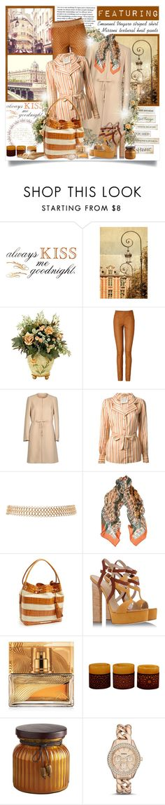 """""""Always kiss me goodnight..."""" by mrstom ❤ liked on Polyvore featuring WALL, Missoni, RED Valentino, Emanuel Ungaro, 2b bebe, Issa, Brahmin, Vicini, Shiseido and Pier 1 Imports"""