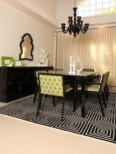 ooh...love this! black, white & green from HGTV