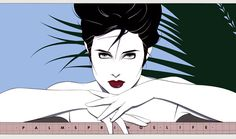Patrick Nagel - My favorite. The cover of Palm Springs Life.