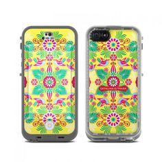 Mandala Yellow Bird LifeProof iPhone 5c fre Skin