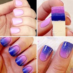 Sponge Stamp nail art- so easy to do and looks professional!