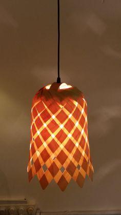 Lampenschirm aus Furnier Blume von Vayehi auf Etsy